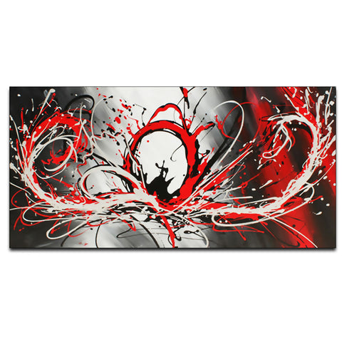 Red Modern Abstract 414s - 32x16in