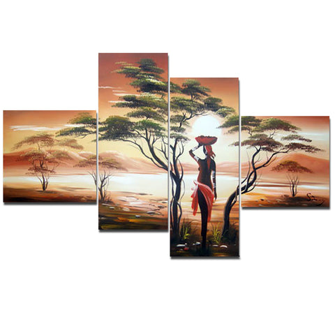 Large African Painting Woman 559 - 55x36in