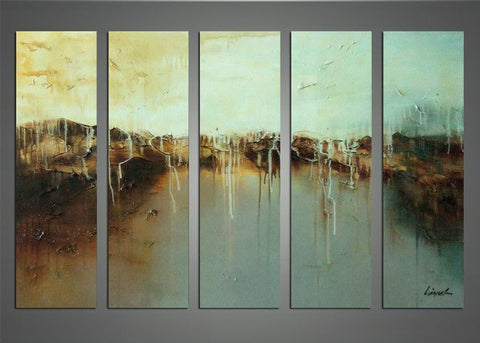 Large Contemporary Abstract Painting  1145 - 60x32in