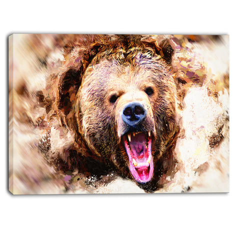 Grizzly Roar - Large Animal Wall Art - PT2300