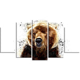 Brown Bear - Animal Canvas Print PT2302