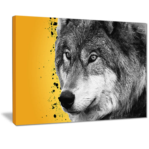 Gazing Wolf- Animal Canvas Print PT2305