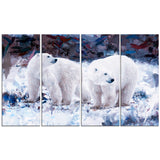Polar Bear Pals- Animal Canvas Print PT2307