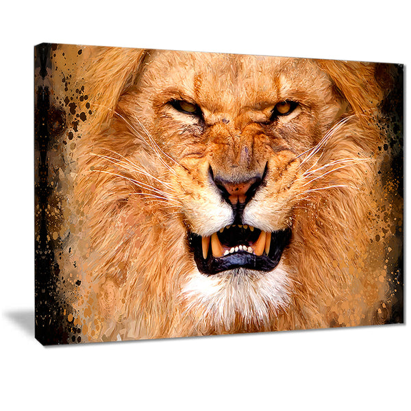 Angry Lion- Animal Canvas Print PT2308