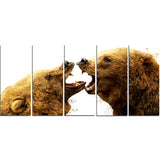 Bear Fight- Animal Canvas Print PT2314