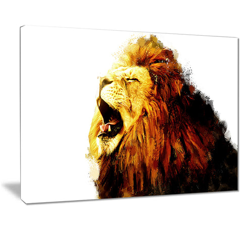 Roaring Lion- Animal Canvas Print PT2316