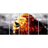 Roaring Lion - Animal Canvas Print PT2317