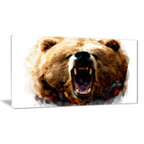 Warning Roar- Animal Canvas Print PT2318