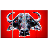 Angry Bull - Animal Canvas Print PT2324