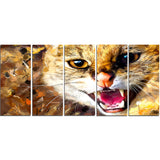 Hissing Cat- Animal Canvas Print PT2335