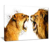 Lion Argument- Animal Canvas Print PT2336