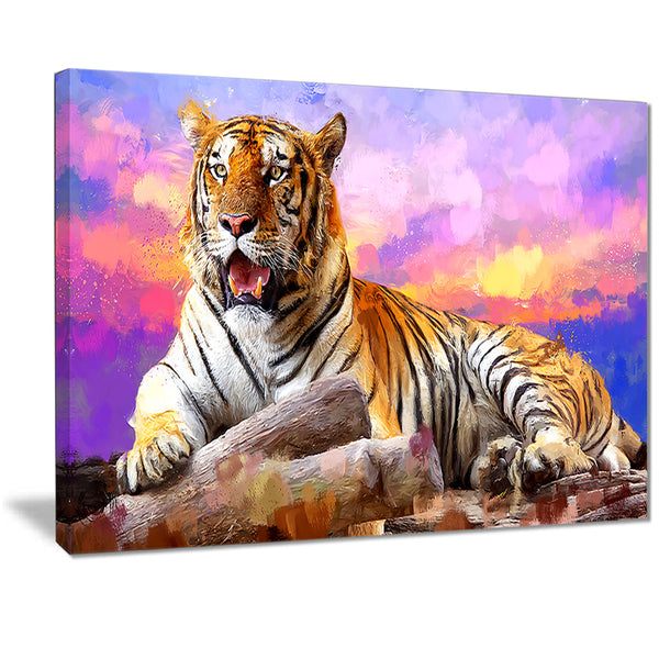 King of Tigers- Animal Canvas Print PT2339