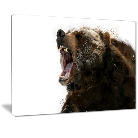 Beware of the Bear- Animal Canvas Print PT2341