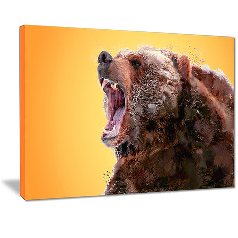 Beware of the Bear - Animal Canvas Print PT2342