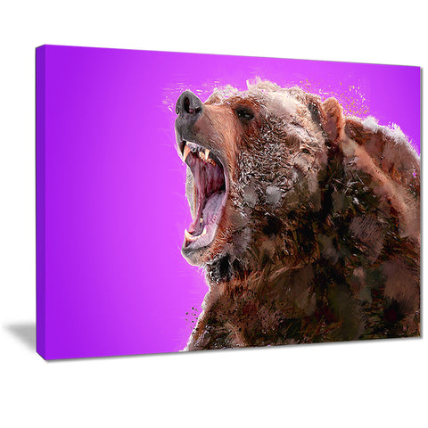 Beware of the Bear - Animal Canvas Print PT2343