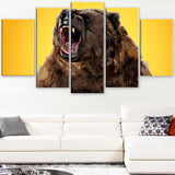 Fierce Grizzly - Animal Canvas Print PT2346