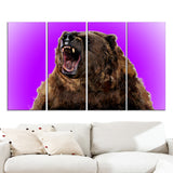 Fierce Grizzly - Animal Canvas Print PT2348