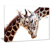Loving Giraffes- Animal Canvas Print PT2351
