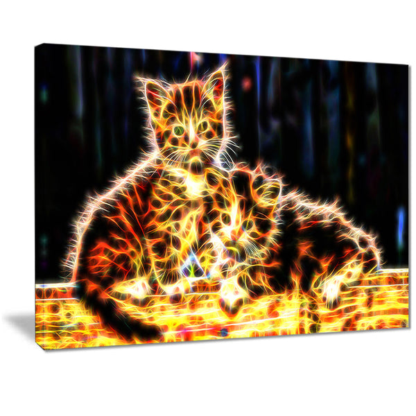 Vivid Kittens- Animal Canvas Print PT2352