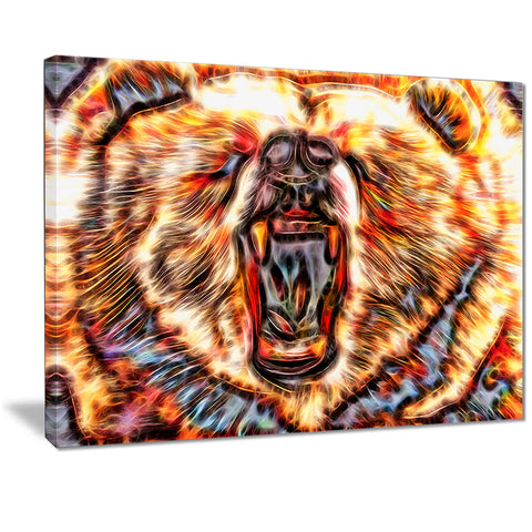 Brash Bear- Animal Canvas Print PT2354