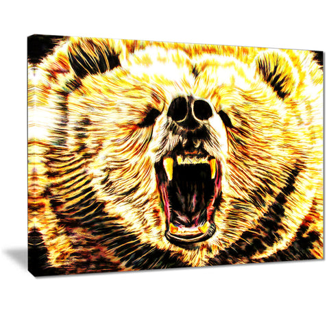 Brazen Bear- Animal Canvas Print PT2356