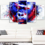 Watchful Gorilla- Animal Canvas Print PT2358