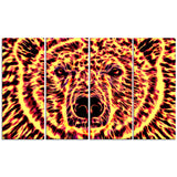 Psychedelic Bear- Animal Canvas Print PT2360