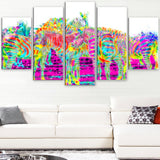 Rainbow Zebras- Animal Canvas Print PT2364