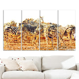 Zebra Herd- Animal Canvas Print PT2365