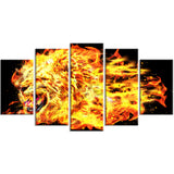 Blazing Lion- Animal Canvas Print PT2366