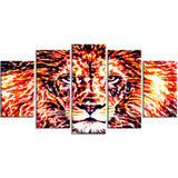 Lively Lion- Animal Canvas Print PT2369