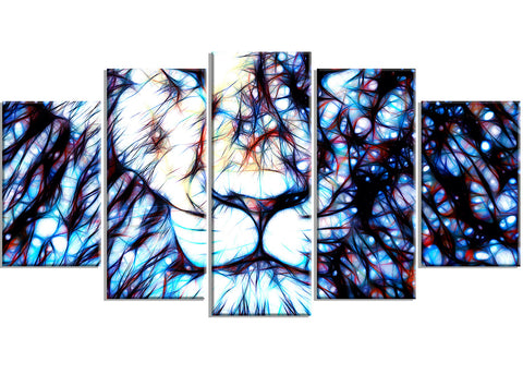Leader of the Pack - Lion Canvas Art Print PT2406