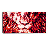 Leader of the Pack - Red Animal Canvas Print PT2406-R