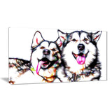 Husky Buddies - Canvas Art PT2409