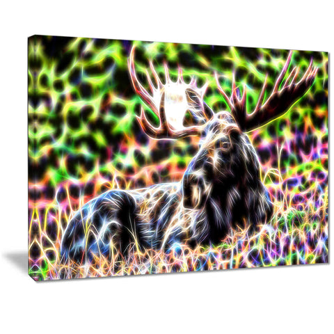 Abstract Moose Canvas Art PT2421
