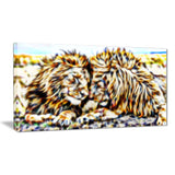 Soul Mates - Lion Canvas Art PT2422