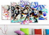 Graffiti Horses - Canvas Art PT2427