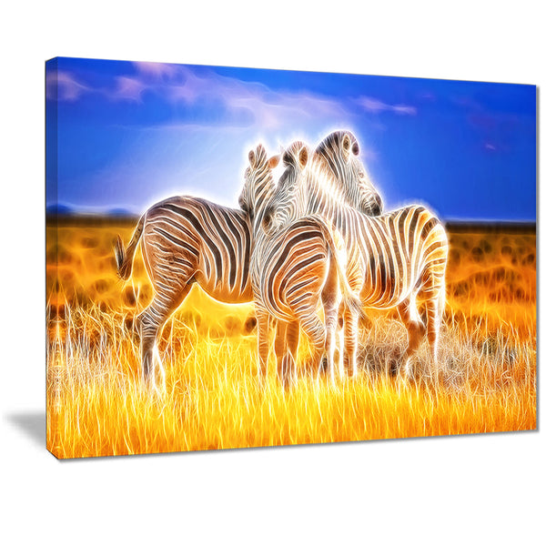Zebra Duo on Canvas PT2442