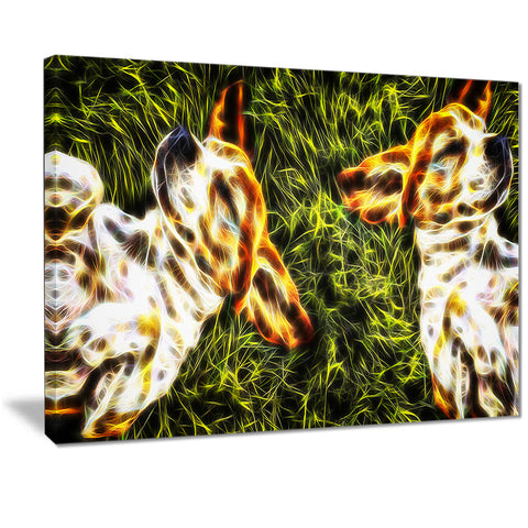 Baby Beagles - Dog Canvas Art PT2455