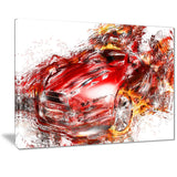 Flaming Red Sports Car PT2601