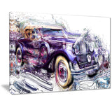 Abstract Vintage Cruiser Car PT2605