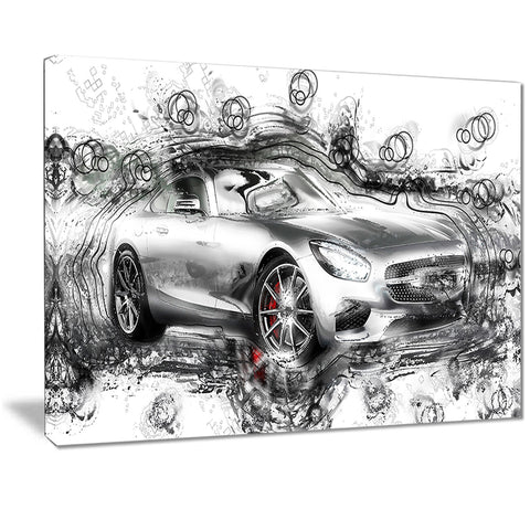 Abstract Grey Luxury Car PT2619