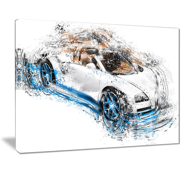 White and Blue Convertible PT2641