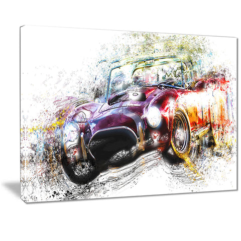 Colorful Abstract Convertible Car PT2654