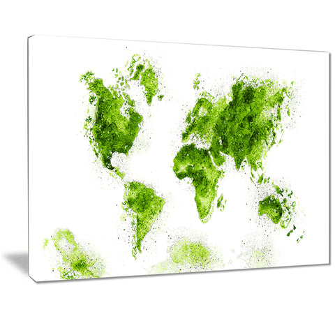 Green - Map Canvas Art PT2708-2