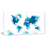 Blue - Map Canvas Art #PT2708-3