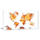Orange - Map Canvas Art #PT2708-4
