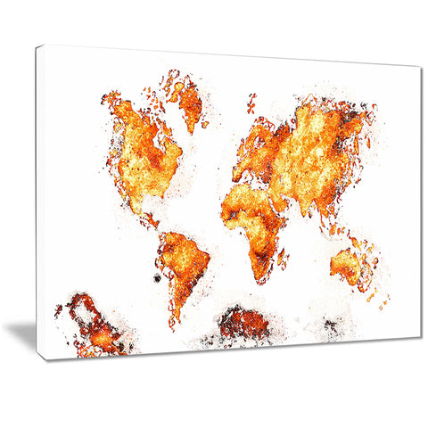 Orange - Map Canvas Art PT2708-4