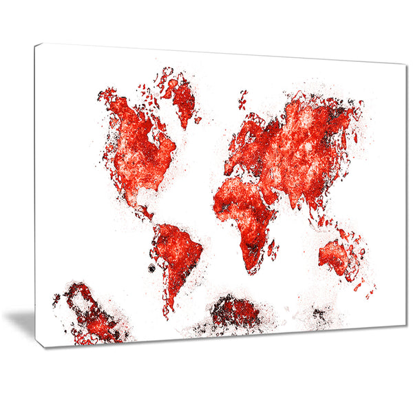 Red - Map Canvas Art PT2708-5