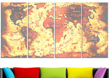 Hazy Orange - Map Canvas Art PT2711